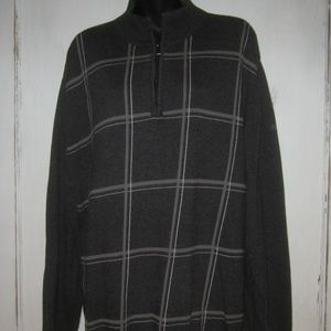 Clairborne Men's Long Sleeve Gray Knit Sweater  XL